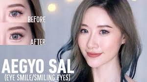 how to aegyo sal puffy smiling eyes