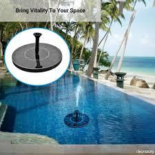 floating solar water fountain garden