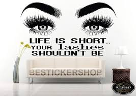 Eyelashes Wall Decal Lash Decals Eyebrows Decal Lashes Decal Etsy