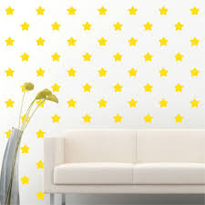 84 Of 4 Light Yellow Star Diy Removable Peel Stick Wall Vinyl Decal Sticker For Sale Online