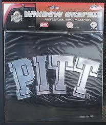 Pittsburgh Large Window Graphic Sticker Ncaa Decal University Of Pitt Chrome Ebay