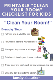 Printable Clean Your Room Checklist For Kids Chores For Kids Rules For Kids Chore Chart Kids
