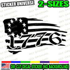 1776 Betsy Ross Style Distressed Flag Car Window Decal Sticker Tattered Usa 1076 Ebay