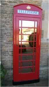 red telephone box sofa booth kiosk