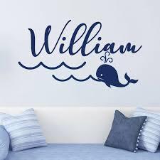 Personalized Wall Sticker Whale Nautical Nursery Decal Boy Room Decor Kids Room Custom Name Wallpaper Bedroom Decor C478 Wall Stickers Aliexpress