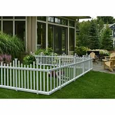 Outdoor No Dig Vinyl Picket Unassembled Garden Fence 2 Pack 30 X 58 White For Sale Online Ebay