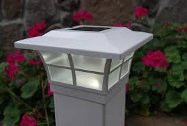 5x5 Solar Post Cap Lights White Prestige By Classy Caps Set Of 2 Solar Post Caps Solar Post Lights Post Lights