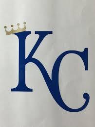 Kansas City Royals Vinyl Decal Kc With Crown Bumper Sticker Window Sticker Computer Kansas City Royals Logo Kansas City Royals Crafts Kansas City Royals