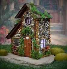 fairy house with solar lights fairy