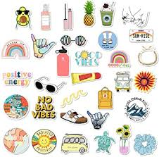 Amazon Com Vsco Stickers For Hydro Flask Girls Stuff Cute Waterproof Trendy Stickers For Teens For Waterbottle Laptop Phone Travel Extra Durable 100 Vinyl 35 Pack Computers Accessories