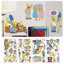 The Simpsons Peel And Stick Wall Decals Entertainment Earth