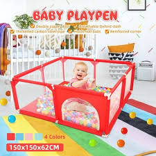 Super Deal C778e6 150x150x62cm Baby Playpen Fence Play Yard For Children Infants Safety Barrier Game Tent For Newborn Baby For Baby Pool Playpen Cicig Co