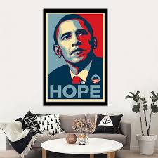 Unframed Printed Poster Post Barack Obama Campaign Shepard Fairey Canvas Modern Oil Art Painting Home Wall Decal Photo 50 X 70 Cm Wish