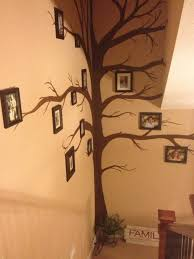 the family tree wall my daughter helped