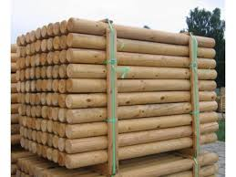 Round Timber Posts Timber Poles For Sale Abwood Ie