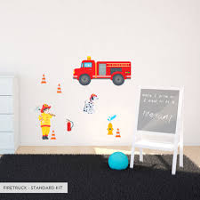 Firetruck Wall Decal Children S Wall Sticker Wallums