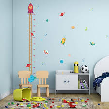 Cartoon Rocket Height Chart Ruler Wall Sticker For Kids Rooms Nursery Bedroom Home Decor Mural Art Decals Wallpaper Stickers Wall Decals Kids Wall Decals Large From Lotlot 2 53 Dhgate Com