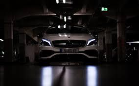 تحميل خلفيات مرسيدس بنز A45 Amg المصابيح الأمامية 2017 السيارات
