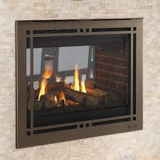 36 inch see through gas fireplace