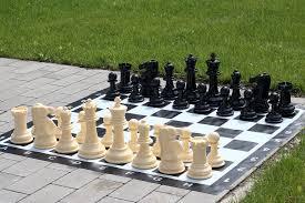 small size garden chess set pieces