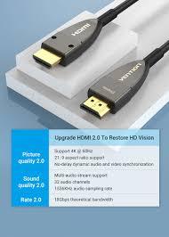 Cáp HDMI 2.0 sợi quang dài 20m Vention AAYBQ hỗ trợ 4K@60Hz