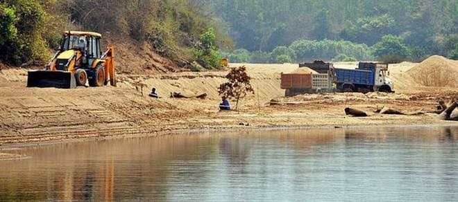 Image result for Sand extraction near fish sanctuary halted tentatively""