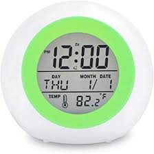 Amazon Com Toota Kids Digital Alarm Clock 7 Color Night Light Snooze Temperature Detect For Toddler Children Boys And Girls Students To Wake Up At Bedroom Bedside Batteries Operated Home Audio Theater