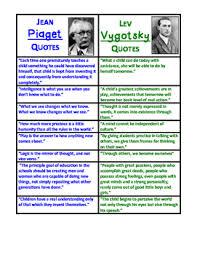 jean piaget vs lev vygotsky by melissa smith teachers pay teachers