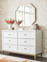 Legacy Classic Kids Chelsea By Rachael Ray Dresser White With Gold Accents Cuddlebugzz