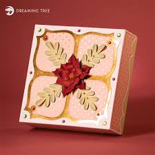 poinsettia gift box svg dreaming tree