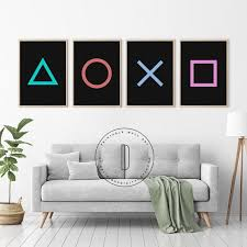 Video Game Decor Gaming Poster Game Room Wall Art Man Cave Etsy