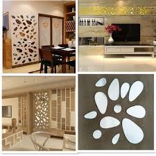 12pcs Diy Removable Acrylic Mirror Wall Sticker Decal Home Decor Art Buy At A Low Prices On Joom E Commerce Platform