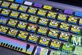 Minion Stickers Macbook Keyboard Macbook Keyboard Minions Stickers