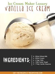 ice cream maker luxury vanilla ice