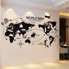World Map With Countries Wall Sticker New Creative World Map Large Wall Stickers Home Decor Living Room Printable Map Collection
