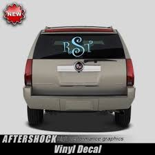 Monogrammed Rear Window Decal 12 X18 Aftershock Decals