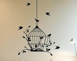 Birdcage Wall Decal Etsy