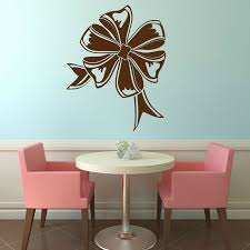 Dctop Bow Ribbon Wall Decal Hollow Out Lounge Decoration Pvc Waterproof Design Customized Colors Wall Sticker Home Decor In Wall Stickers From Home Garden On Aliexpress Com Alibaba Group