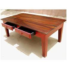2 drawer solid wood coffee table