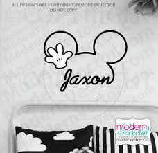Personalized Mickey Mouse Signature Name W Hand Vinyl Wall Decal Nursery Disney Ebay