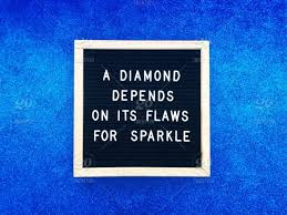 a diamond depends on its flaws for sparkle inspiration