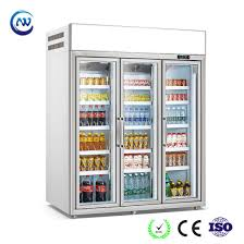 china beverage glass door cooler