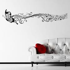 Ebay Musical Butterfly Music Notes Wall Sticker Decal Hanging Mural Self Adhesive Music Wall Decal Wall Sticker Inspiration Music Wall Stickers