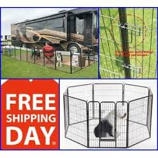 Bestforpet Large Dog Playpen 8 Panels Pet Cat Puppy Exercise Fence Heavy Duty Metal Cage 32