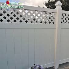 China Hot Popular 6 H 8 W Used Pvc Vinyl Privacy Lattice Fence Panels Photos Pictures Made In China Com