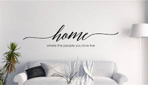 Home Where The People You Love Live Vinyl Decal Wall Stickers Letters Words Home Family Decor