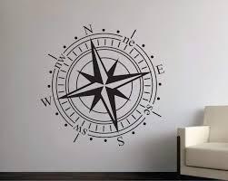 Amazon Com Littledollz Wall Decals Compass Decal Compass Wall Decal Travel Wall Decal Vacation Wall Decal Compass Compass Vinyl Wall Decal 22 Inch Home Kitchen