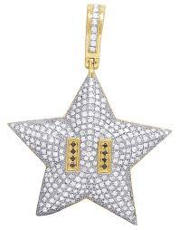 mens 10k yellow gold super mario star