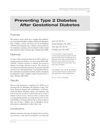 pdf preventing type 2 diabetes after