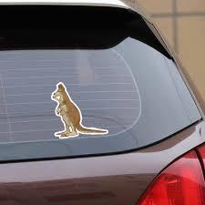 Yjzt 15cm 14 7cm Animal Kangaroo Mother And Child Cute Car Sticker Decal Pvc C29 0551 Car Stickers Aliexpress